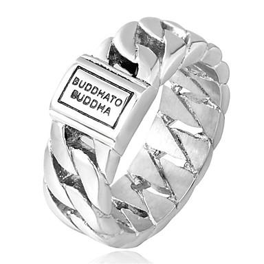 voordelige Herensieraden-Heren Bandring Goud Zilver Titanium Staal Cirkelvorm Modieus Disco Lahja Dagelijks Sieraden