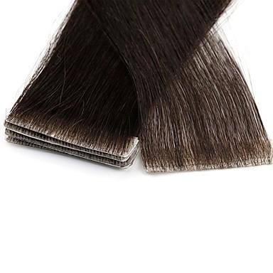levne Příčesky z pravých vlasů-Neitsi Lepící Rozšíření lidský vlas Volný Remy vlasy Prodloužení Brazilské vlasy Černá Blonďatá 1pack Párty rozšířením nový Dámské Blonde