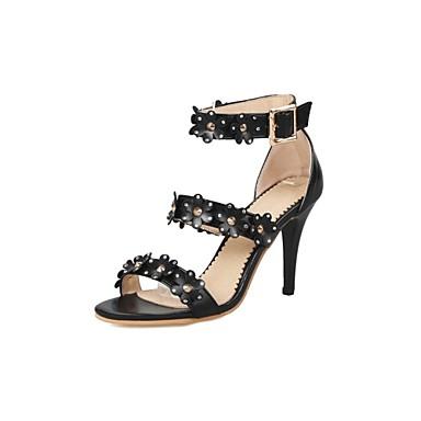 acheter Livraison Gratuite Nouveau Mujer Zapatos Materiales Personalizados Verano Confort Sandalias Tacón Stiletto Puntera abierta Blanco / Negro / Rojo / Fiesta y Noche VCeN83m