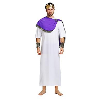 Egyptiske Kostymer Unisex Halloween Kostume Til Polyester Ensfarget Halloween Halloween Karneval Nytt År Trikot / Heldraktskostymer Sjal Hodeplagg