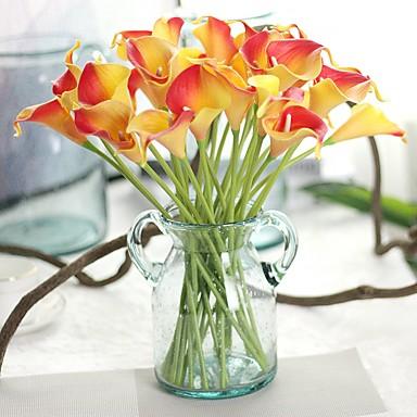 preiswerte Meistverkauft-Künstliche Blumen 8.0 Ast Stilvoll Rustikal Calla-Lilien Ewige Blumen Tisch-Blumen
