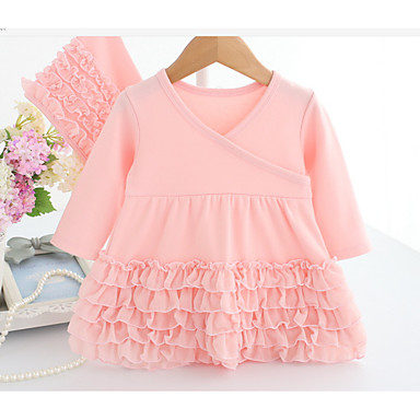 20a071297a97 Baby Girls  Basic Daily Solid Colored   Jacquard Basic Long Sleeve ...