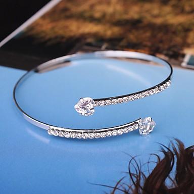 levne Dámské šperky-Dámské Kotníkové náramky Jeden pruh dámy Moderní Módní Pro nevěstu Štras Náramek šperky Zlatá / Stříbrná Pro Párty Rande