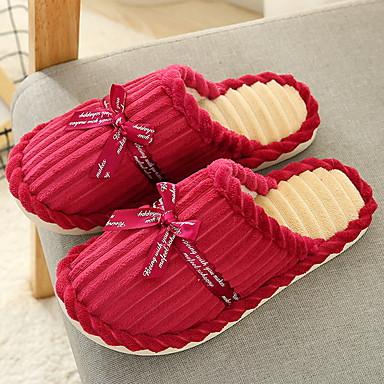 preiswerte Pantoffeln-Damenhausschuhe Pantoffel Ordinär Polyester Einheitliche Farbe Schuhe