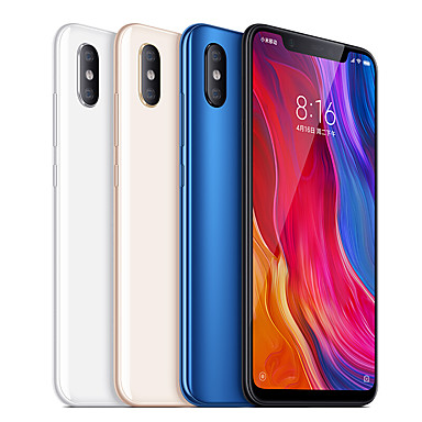 "Xiaomi Mi8(English only) 6.21 inch "" 4G Smartphone (6GB + 256GB 12+12 mp Snapdragon 845 3400 mAh)"