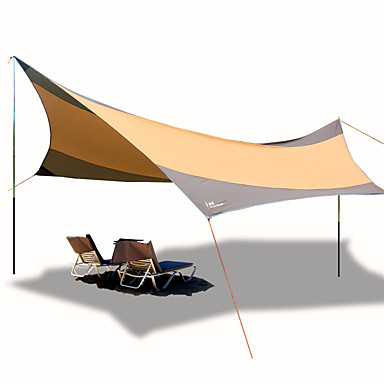 Lytelt Utendørs Vindtett UV-bestandig Stang camping Tent 1000-1500 mm til Strand Camping / Vandring / Grotte Udforskning Oxfordtøy 560*550 cm