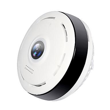 hiseeu® hd fisheye ip kamera 960p 360 graders full visning mini cctv kamera 1.3mp nettverkssikkerhetsovervåking wifi vr kamera panorama ir fjerntilgang bevegelsesdeteksjon nattsyn monitor