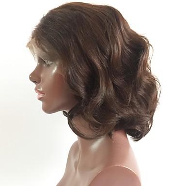 Włosy Naturalne Remy Siateczka Z Przodu Peruka Fryzura Bob Krótki