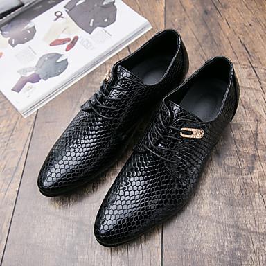 זול נעלי אוקספורד לגברים-בגדי ריקוד גברים סתיו יום יומי יומי נעלי אוקספורד הליכה מיקרופייבר נושם מסג' ללבוש הוכחה שחור / כחול