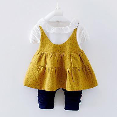 povoljno Odjeća za bebe-Dijete Djevojčice Aktivan Izlasci / Plaža Print Dugih rukava Regularna Komplet odjeće Djetelina / Dijete koje je tek prohodalo