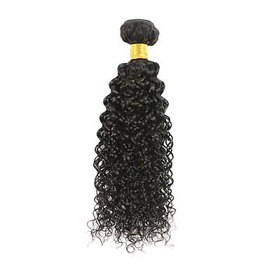 povoljno Ekstenzije za kosu-1 paket Brazilska kosa afro Kinky Curly Virgin kosa Ljudske kose plete Ekstenzije od ljudske kose 8-28 inch Prirodna boja Isprepliće ljudske kose proširenje Najbolja kvaliteta Rasprodaja Proširenja