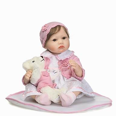 NPKCOLLECTION NPK DOLL Reborn-dukker Girl Doll Babyjenter 24 tommers Silikon - liv som Gave Barnesikker Ikke Giftig Tippede og forseglede negler Naturlig hudton Barne Jente Leketøy Gave