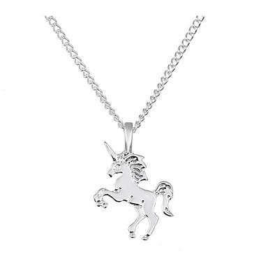 povoljno Modne ogrlice-Žene Ogrlice s privjeskom Konj Unicorn dame Klasik Vintage Moda Legura Zlato Pink 40 cm Ogrlice Jewelry 1pc Za Dnevno Ured i karijera