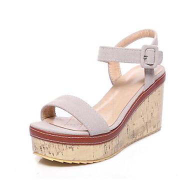Femme Basique Chaussures Escarpin Cuir Printemps Été Sandales Nubuck 3LS4R5Acjq