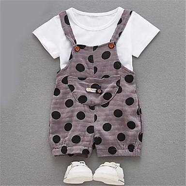 a89590809269 Baby Boys  Basic Polka Dot Short Sleeves Romper   Toddler 6737649 ...