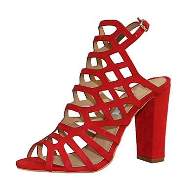 Sandalias Sintético Cuero Mujer Gladiador Verano Zapatos Wkno0p Tacón tQxBohrdCs