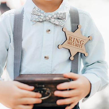 preiswerte Zeremonie Dekoration-Hölzern Pin Dekoration für die Zeremonie - Hochzeit Hochzeit