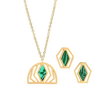 levne Dámské šperky-Dámské Tanzanit Peckové náušnice Náhrdelníky s přívěšky dámy Luxus Módní Náušnice Šperky Zelená Pro Svatební Rande