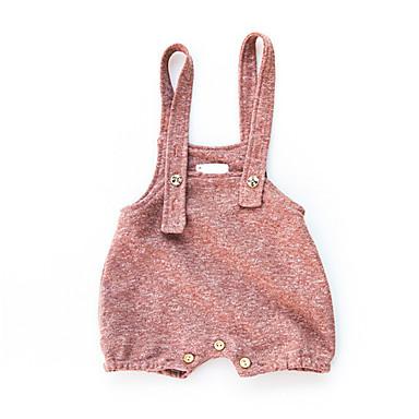 preiswerte Meist Verkaufte-Baby Mädchen Aktiv Alltag Solide Baumwolle Anzug & Overall Rote