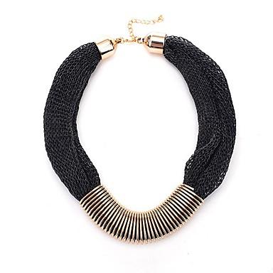 povoljno Modne ogrlice-Žene Ogrlica od šalova Laso Spajalica dame Klasik Moda Legura Zlato Crn Sive boje 52 cm Ogrlice Jewelry 1pc Za Dnevno