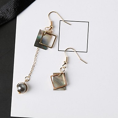 povoljno Modne naušnice-Žene Nesparene naušnice neprilagođeno dame Stilski Klasik Naušnice Jewelry Zlato Za Dnevno 1 par