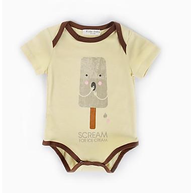 preiswerte BabyJungenoverall-Baby Jungen Grundlegend Alltag Druck Print Kurze Ärmel Baumwolle Body Khaki