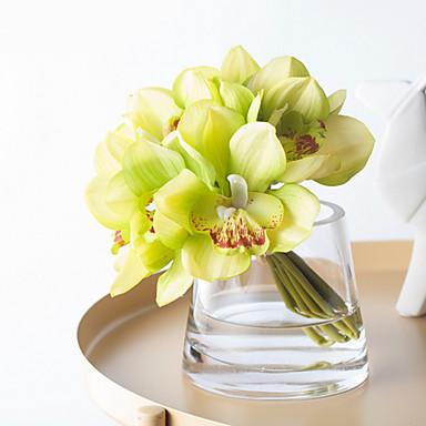 Kunstige blomster 1 Gren Klassisk Enkel Stil Bryllupsblomster Orkideer Bordblomst