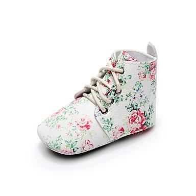 f19d20746ec Κοριτσίστικα Παπούτσια Φο Δέρμα Άνοιξη & Χειμώνας Ανατομικό / Πρώτα Βήματα  / Παπούτσια Αγκαλιάς Μπότες Κορδόνια για Παιδιά Λευκό / Πράσινο / Μαύρο /  Άσπρο ...