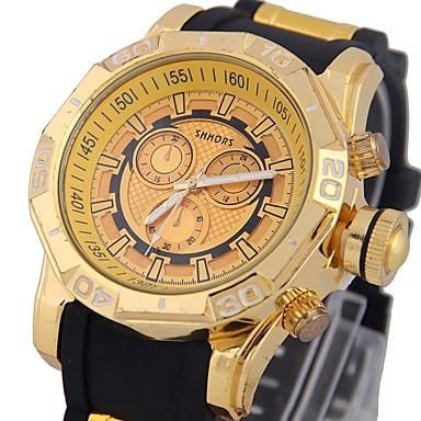 levne Pánské-Pánské Sportovní hodinky Z umělé kůže Černá / Modrá obloha Kompas Analogové Luxus Módní - Modrá stříbrná / černá Zlatá / černá