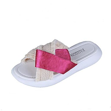 baad271e29d68 Dámské Tassel Shoes PU Léto Pohodlné Pantofle a Žabky Creepers Otevřený  palec Třásně Černá / Fuchsiová 6758376 2019 – $22.99