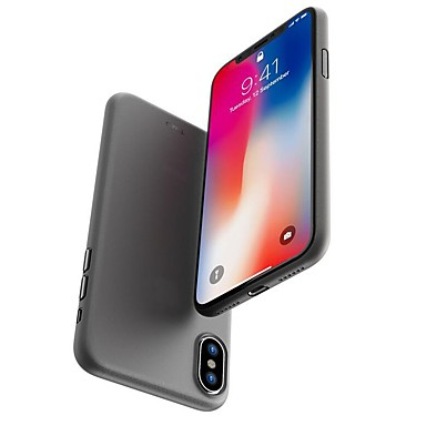 preiswerte Bis zu 0,99 $-Hülle Für Apple iPhone X / iPhone 8 Plus / iPhone 8 Mattiert Rückseite Solide Hart PC