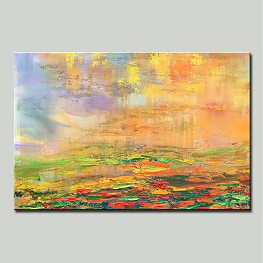 povoljno Ukrašavanje zidova-Hang oslikana uljanim bojama Ručno oslikana - Sažetak Moderna Uključi Unutarnji okvir / Prošireni platno