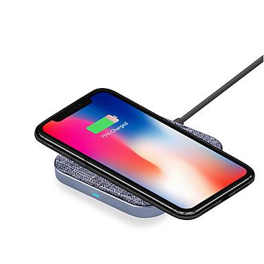 7,5w / 10w kvadrat aluminiumslegering type-c grensesnitt rask trådløs lader for iphone xs iphone xr xsmax iphone 8 samsung s9 pluss s8 notat 9 eller innebygd qi mottaker smart telefon