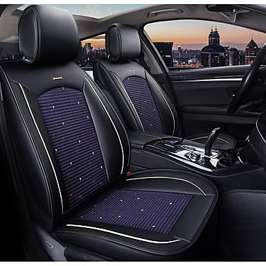 levne Doplňky do interiéru-5 sedadel černá a modrá čtyři roční období plné potahy sedadel pro pět sedadlových aut / pu kůže a materiály z ledového hedvábí / kompatibilita s airbagy / nastavitelné a odnímatelné / rodinné auto