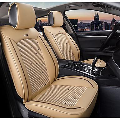 levne Doplňky do interiéru-5 míst béžová čtyři roční období autosedačka plné potahy pro pět sedadel auto / pu kůže a materiály z ledového hedvábí / kompatibilita airbagů / nastavitelné a odnímatelné / rodinné auto / suv