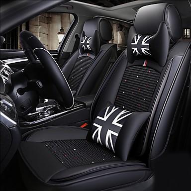 voordelige Auto-interieur accessoires-vier seizoenen universele cartoon vijfzits gezinsauto zitkussen / pu leer / de airbag is compatibel / twee hoofdsteun / twee heupkussens / één stuurhoes