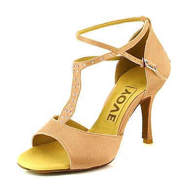 Femme chaussures latines salon satin talon strass boucle talon aiguille personnalisables - Salon talon aiguille lausanne ...
