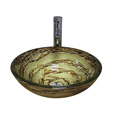 Baderomskran Moderne - Herdet Glass Rund Vessel Sink