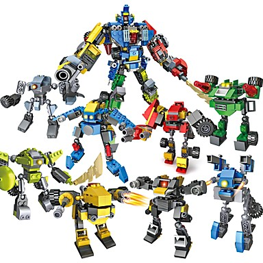 cheap Building Blocks-8 In 1 Building Blocks Educational Toy Construction Set Toys 739 pcs Robot compatible A Grade ABS Plastic Legoing Transformable Creative Boys' Girls' Toy Gift / Kid's