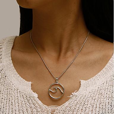povoljno Modne ogrlice-Žene Izjava Ogrlice Jedna vrpca Val dame Europska Legura Pink 41+6 cm Ogrlice Jewelry 1pc Za Dnevno