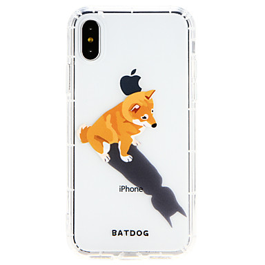 Etui Til Apple iPhone X / iPhone 8 Plus / iPhone 8 Ultratynn Bakdeksel Hund Myk TPU