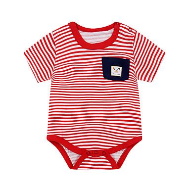 povoljno Odjeća za bebe-Dijete Djevojčice Aktivan Print Kratki rukav Pamuk bodysuit Blushing Pink