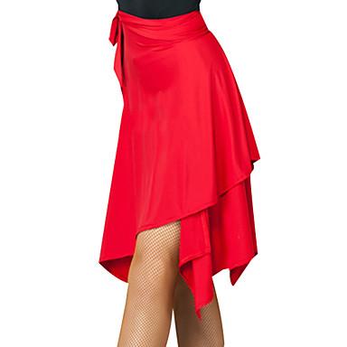 povoljno Odjeća i obuća za ples-Latino ples Donji Žene Trening Spandex Vezivanje Sudačko Suknje