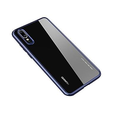 Etui Til Huawei Huawei P20 / Huawei P20 Pro / Huawei P20 lite Gjennomsiktig Bakdeksel Ensfarget Hard Akryl