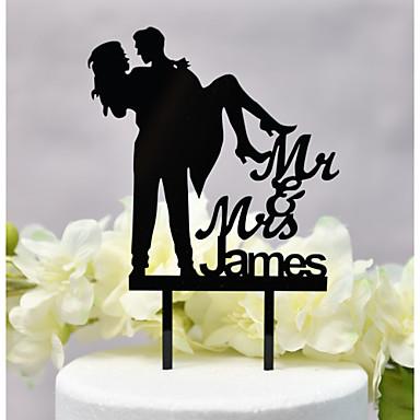 Kakepynt Klassisk Tema / Bryllup ny / Hul Acryic / Polyester Bryllup / jubileum med Akryl 1 pcs OPP