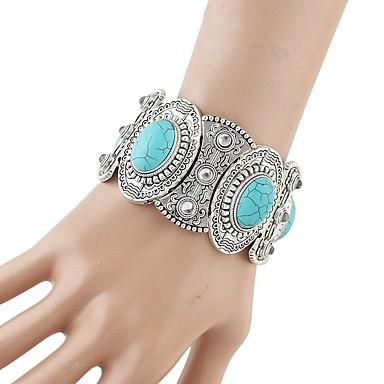 levne Dámské šperky-Dámské Silný řetězec Šťastný Základní Módní vesternový styl Slitina Náramek šperky Stříbrná Pro Denní Škola