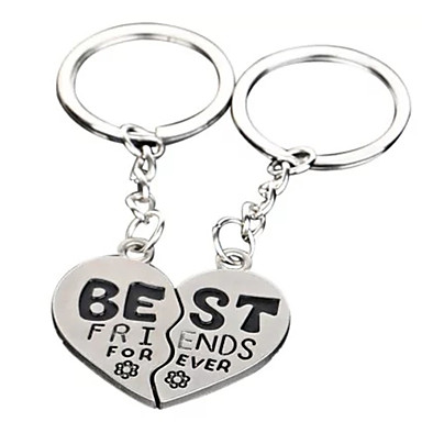 cheap Keychains-Keychain Gags & Practical Joke Heart School Special Designed Stainless steel for Children's All Boys' Girls'