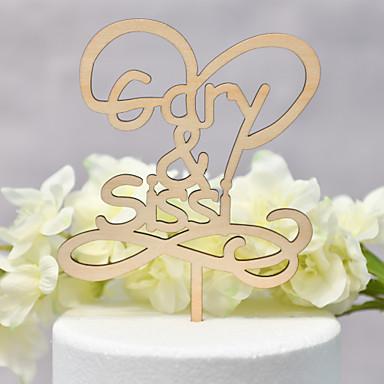 Kakepynt Klassisk Tema / Bryllup Kjærlighed Tre / Bambus Bryllup / jubileum med 1 pcs OPP