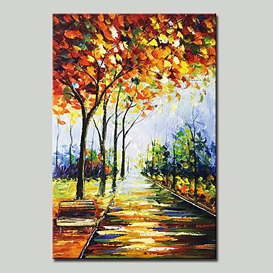 Hang malte oljemaleri Håndmalte - Abstrakt Landskap Moderne Inkluder indre ramme / Stretched Canvas