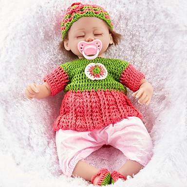 FeelWind Reborn-dukker Girl Doll Babyjenter 18 tommers liv som Økovennlig Håndlaget Barnesikker Ikke Giftig Foreldre-barninteraksjon Barne Jente Leketøy Gave